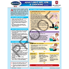 First Aid Chart - First Aid, CPR and Chocking Quick Reference Guide