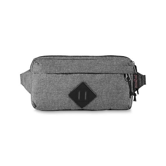 'WAISTED' - JANSPORT Waist Bag - in Grey Letterman Poly