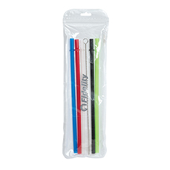 LUNCH PRODUCTS - Reusable Straws with Brush - Set of 5