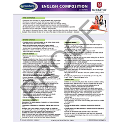SCHOOL SUPPLIES - English Composition - Language Quick Reference Guide