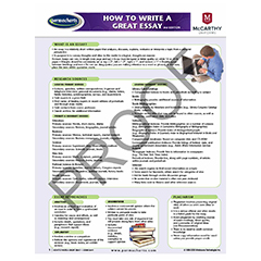 SCHOOL SUPPLIES - How to Write a Great Essay - Quick Reference Guide