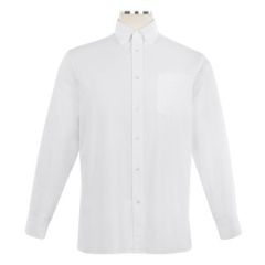 SHIRTS - Long Sleeve Oxford Shirt with Button Down Collar - Unisex