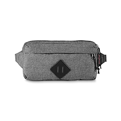 BAGS - 'WAISTED' - JANSPORT Waist Bag - in Grey Letterman Poly