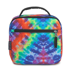 LUNCH PRODUCTS - LUNCH BREAK - Jansport Lunch Bag in Red/Multi Hippie Days
