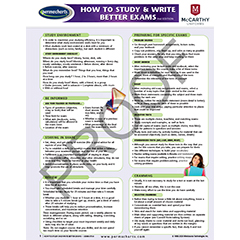 SCHOOL SUPPLIES - How to Study & Write Better Exams - Quick Reference Guide
